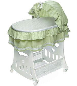 Green and white cradle