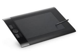 A Wacom graphics tablet for computer graphic design