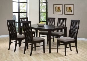 a classy dining table set