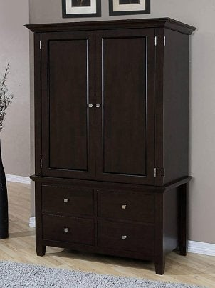 A beautifully crafted armoire