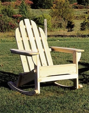 A rocking chair getting some sun