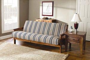A sleek futon