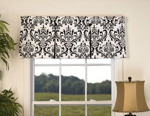 A window valance accents a room