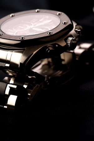 Sleek stainless steel Croton watch