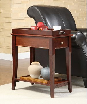 A hip end table waiting to be used