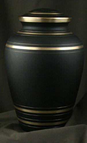 Black funeral urn