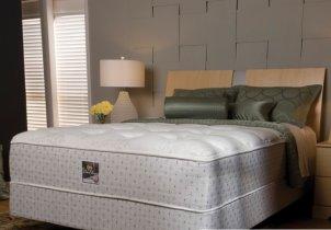 Queen mattress set with mattress and box springs