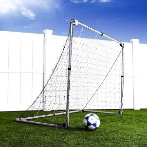 A soccer set ready for game time