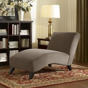 A comfortable chaise lounge in a living room