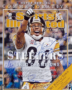 Sports illustrated football collectible for a lucky sports fan
