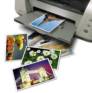 Color photo printer using ink cartridges