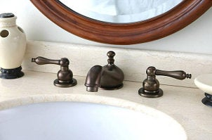 Oil-rubbed bronze bathroom faucet