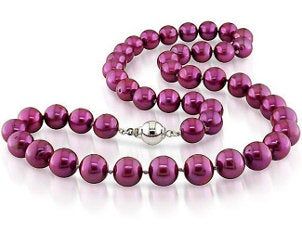 Pink pearl strand necklace
