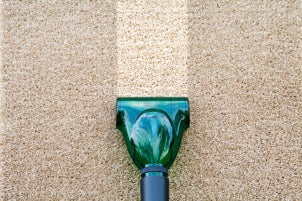 Steam carpet cleaner removes dirt from filthy carpet