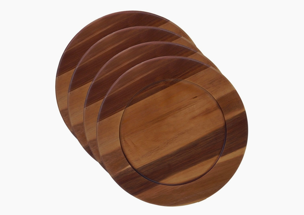 Wood Charger Plates