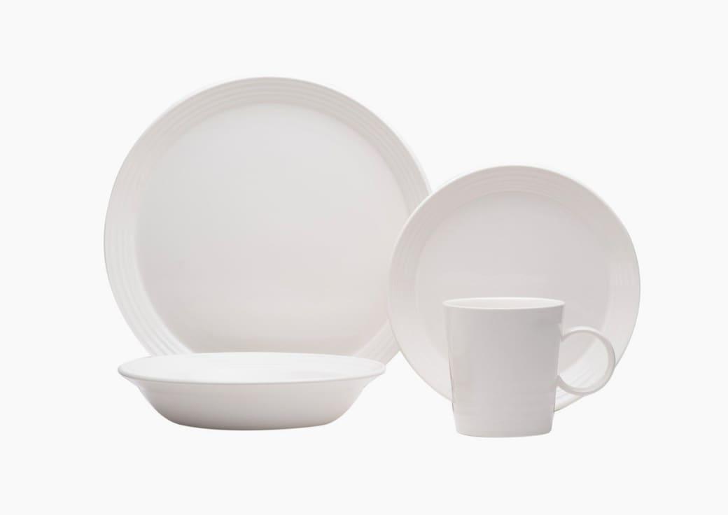 White Stoneware Dishes