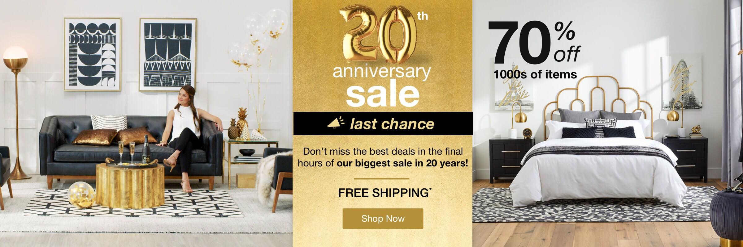 Anniversary Sale desktop