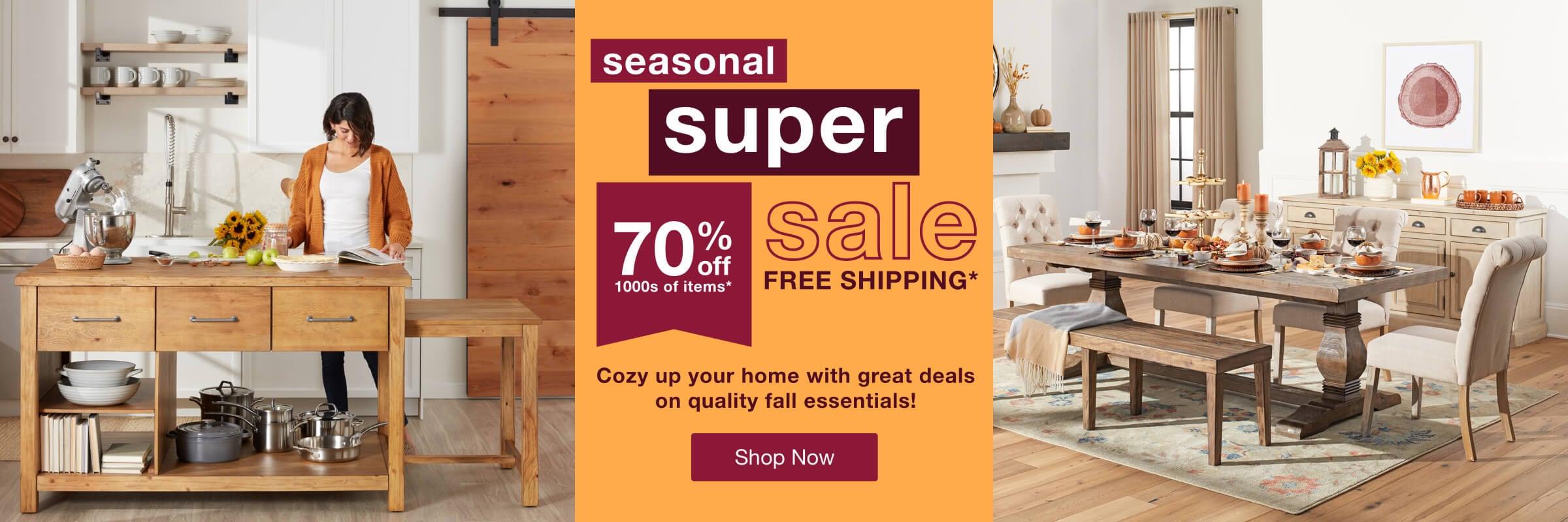 Seasonal Super Sale desktop
