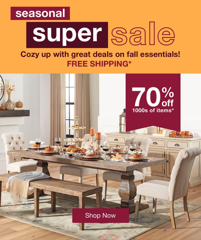 Seasonal Super Sale mobile