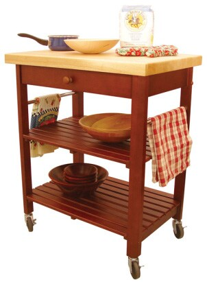 cute kitchen cart used for baking materials