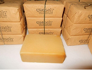 Organic bar soap is a top winter beauty product