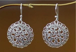 Wear delicate handmade filigree jewelry to special occasions