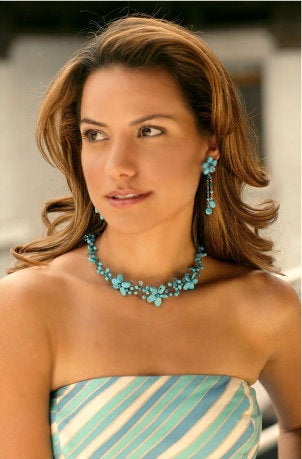 Choose sets of handmade beaded jewelry for a polished look
