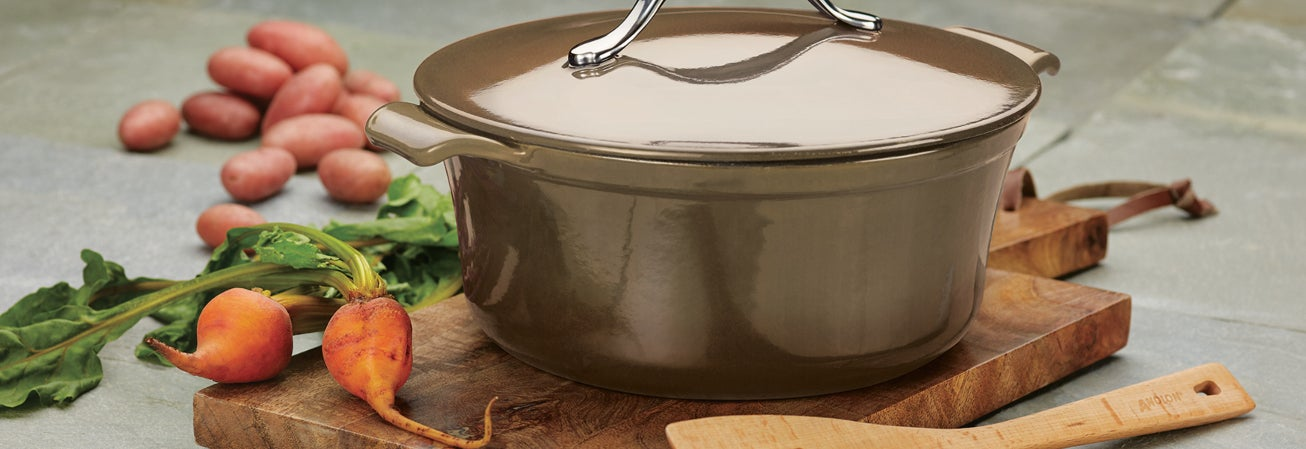 Brown Dutch oven specialty cookware