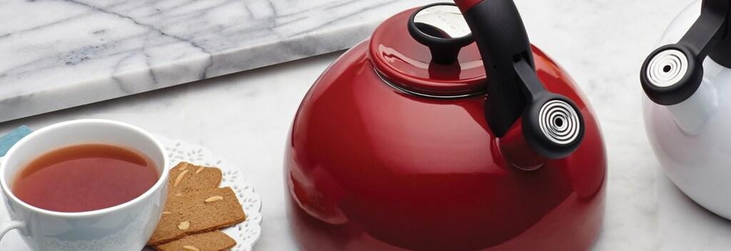 Red tea kettle cookware