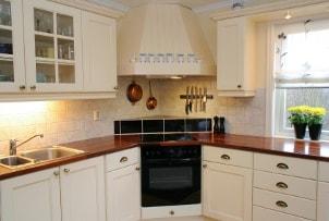 Clean updated kitchen cabinets