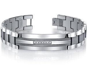 A sleek tungsten bracelet