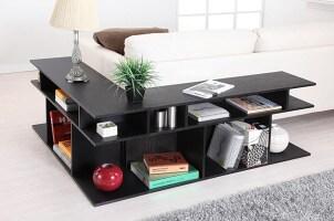 Dark wood sofa console table