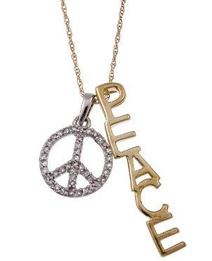 A cute peace necklace