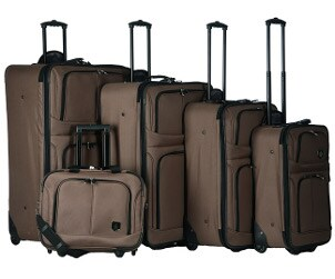 Travel anywhere with a 5-piece expandable luggage set
