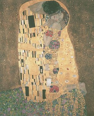 A famous painting by Gustav Klimt