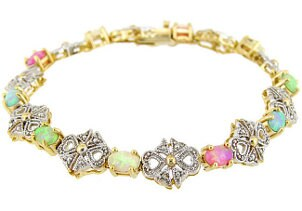 A stunning birthstone bracelet