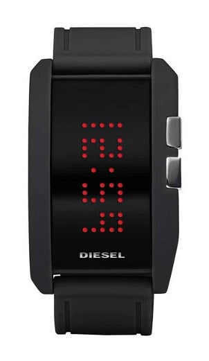 A sporty digital watch with dual faces