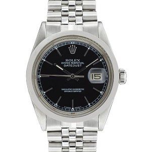 Rolex men's stainless steel watch