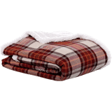 Flannel Sherpa Throw