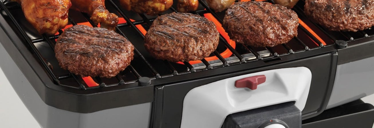 burgers on electric grill