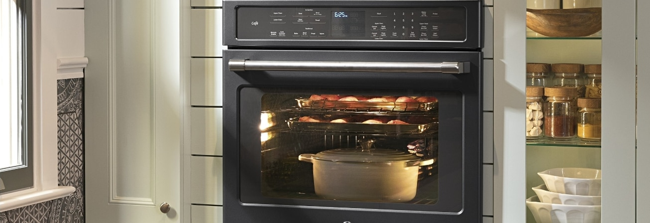 Black built in oven