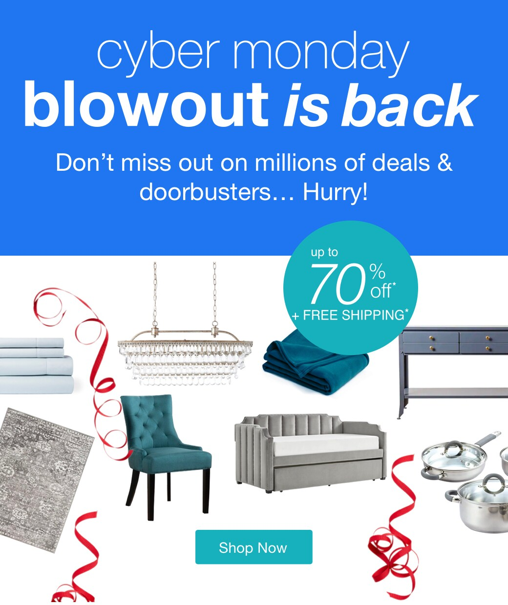 cyber monday blowout is back