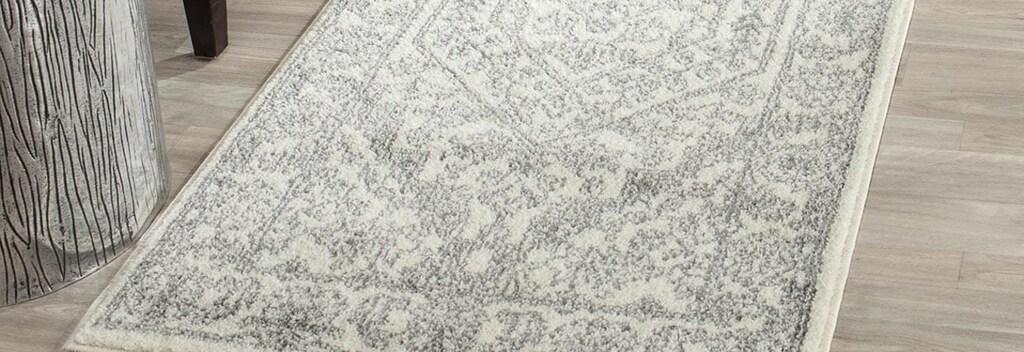 Grey Traditional runner rug