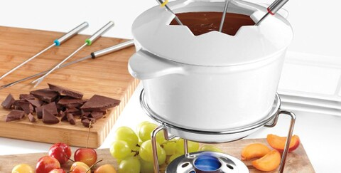 White fondue set