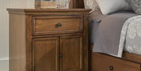 Traditional wood style cabinet nightstand