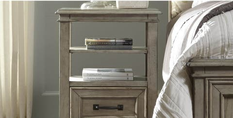 Shabby Chic style open shelf nightstand