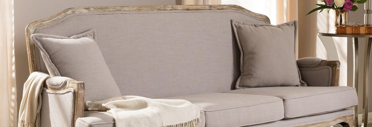 Beige antique sofa