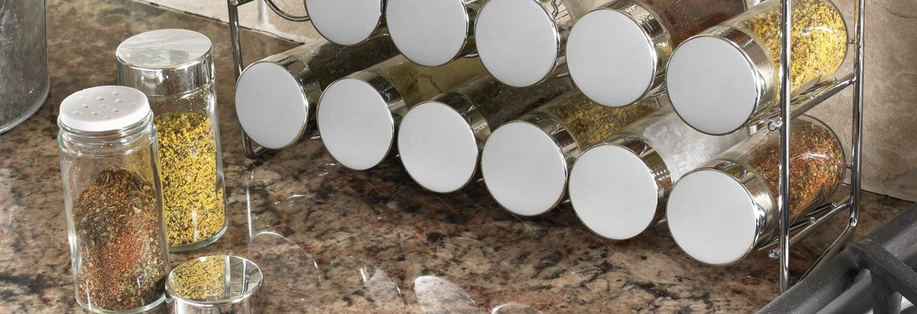 Multi spice rack on counter