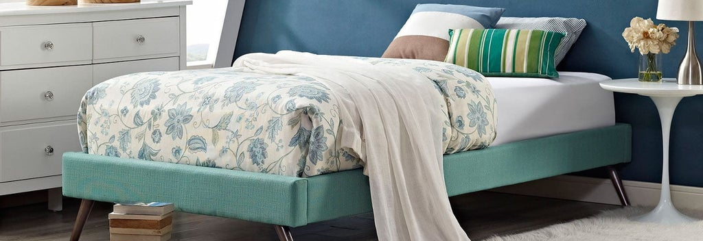Teal twin size bed frame