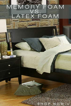 memory foam vs latex foam overstock. Black Bedroom Furniture Sets. Home Design Ideas